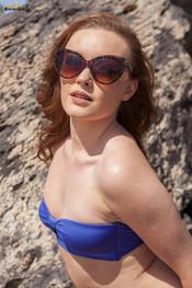 rosie-h-blue-bikini-at-beach-138