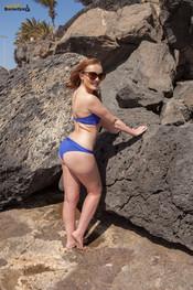 rosie-h-blue-bikini-at-beach-139