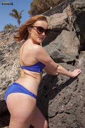 rosie-h-blue-bikini-at-beach-140