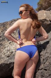 rosie-h-blue-bikini-at-beach-144
