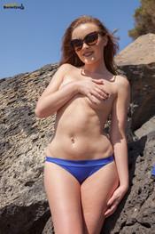 rosie-h-blue-bikini-at-beach-154